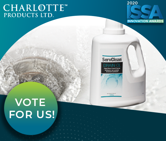 ISSA Show North America Innovation Awards - ServClean Drain CL  Deep Drain Foam Cleaner