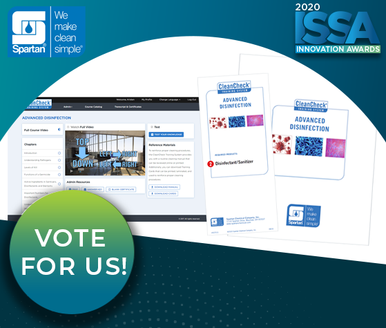 ISSA Show North America Innovation Awards - Spartan Chemical Company - CleanCheck® LMS SCORM Access