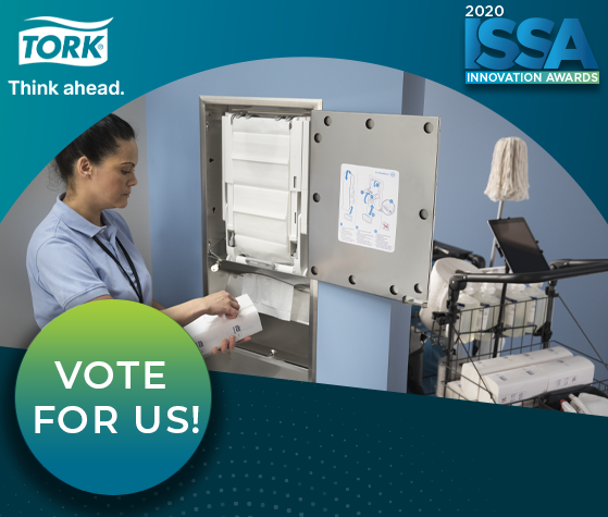 ISSA Show North America Innovation Awards - Tork PeakServe® Recessed Cabinet Adapters